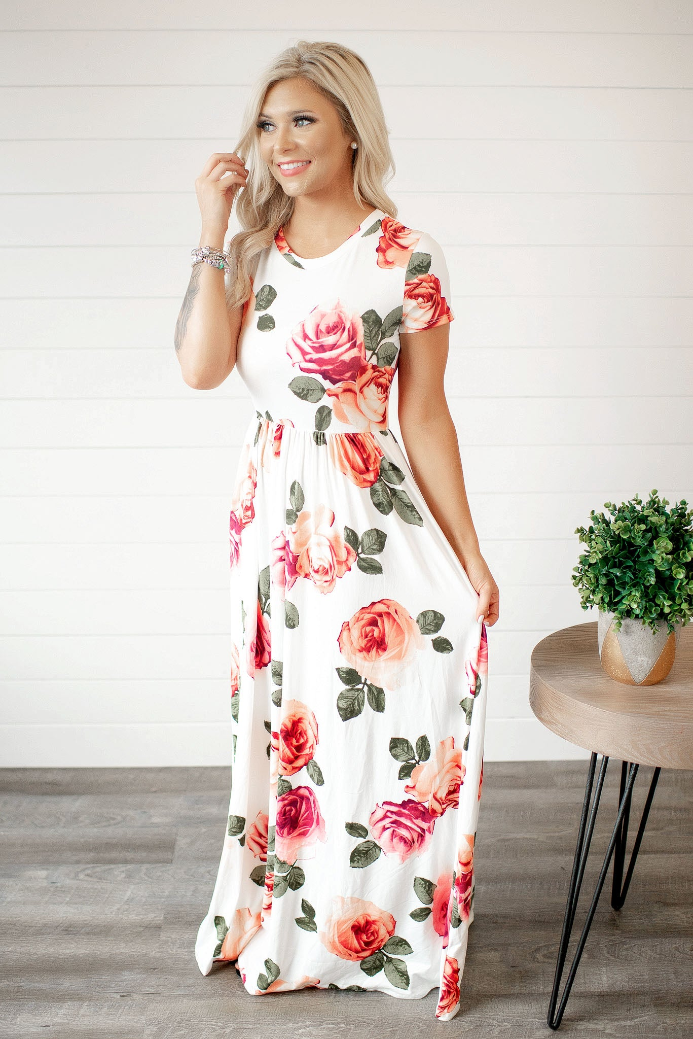 7b8d31fe0a2 Dresses. Smell The Roses Floral Maxi