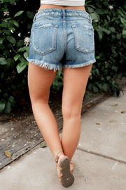 KanCan Ultra Distressed Fringe Hem Shorts