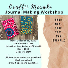 Load image into Gallery viewer, Journal Making with Crafti Meraki! [Materials Included]