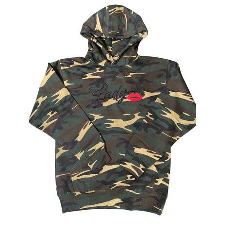 "Hey Lady💋™  ""Limited"" Edition Embroidered  Camouflage Hooded Sweatshirt"