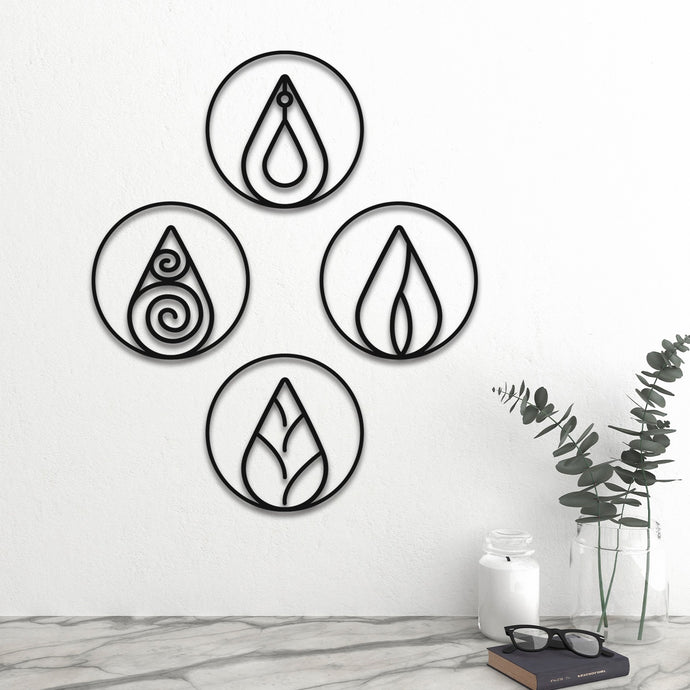 Four Elements v3 Metal Wall Art -15.75