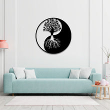 "Load image into Gallery viewer, Moon & Sun Metal Wall Art -19.68"" X19.68"" Inches"