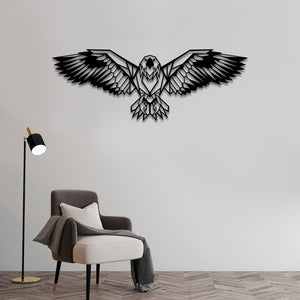 "Eagle Metal Wall Art -39.37"" X13.77"" Inches"