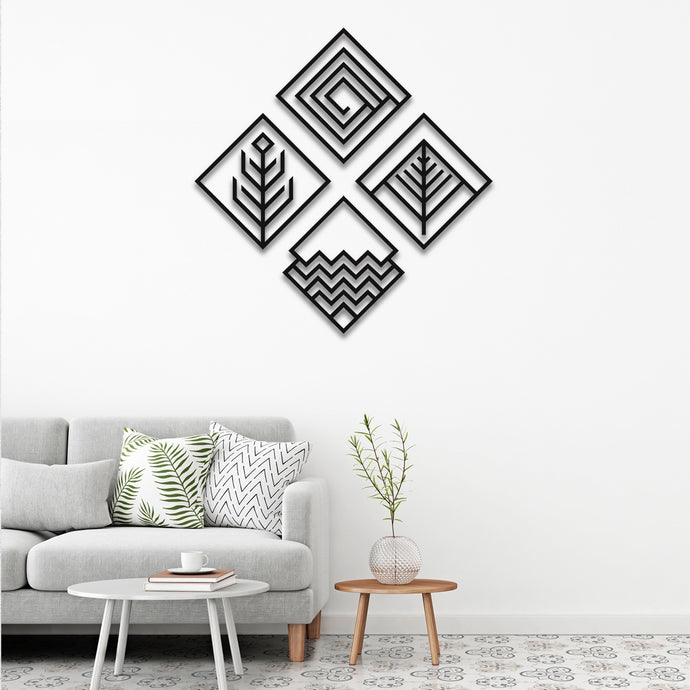 Four Elements v2 Metal Wall Art - 4 Set -14.56
