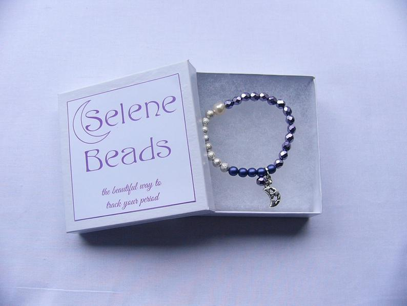 Selene Beads - Purple & Silver/Gold