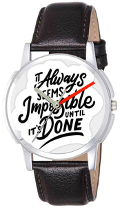It Always Seems Impossible Until it is Done Trending Watch For Mens