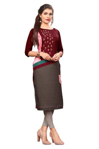 New Ethnic 4 You Womens Multicolor Printed Full-Stitched Crepe Straight Kurta_168