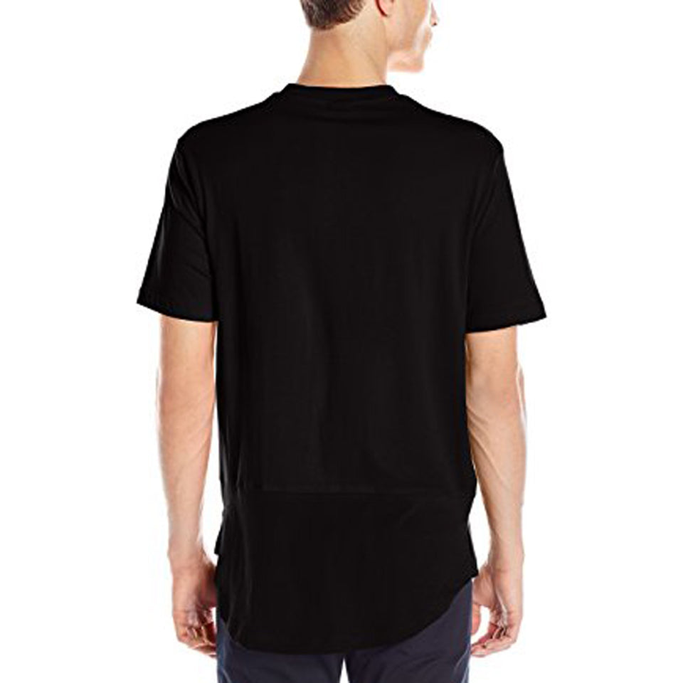 Pause Orange Round Neck T-Shirt For Men