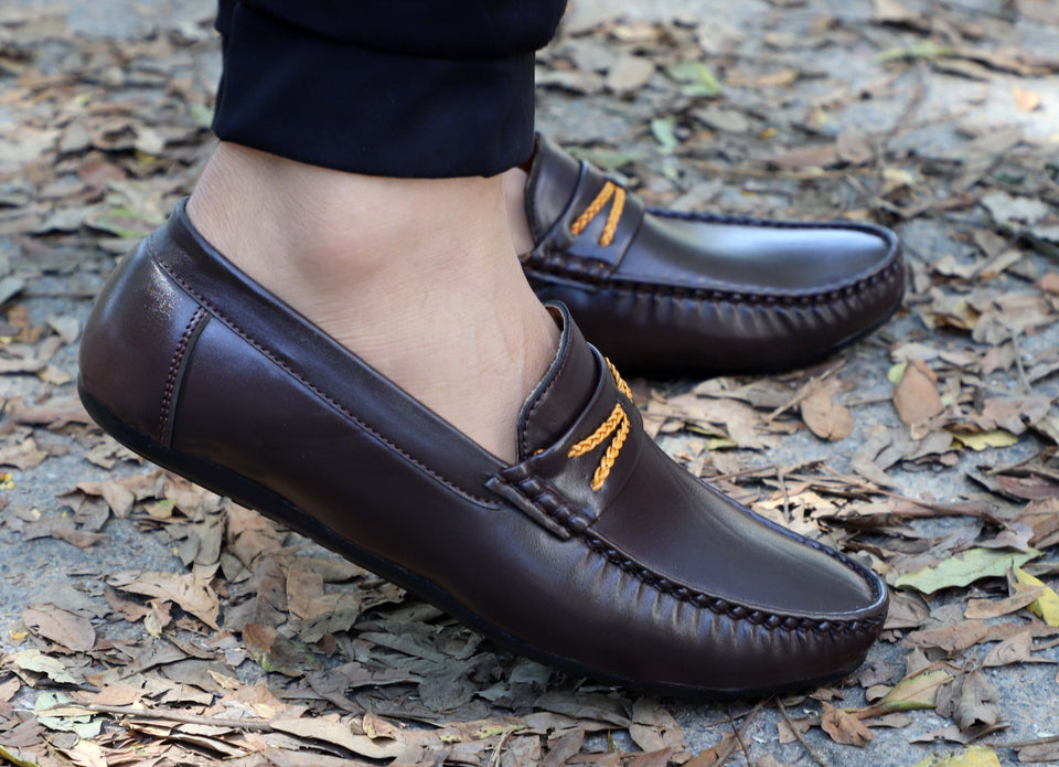Stylish Party Wear Loafers Shoe Loafers For Men Brown