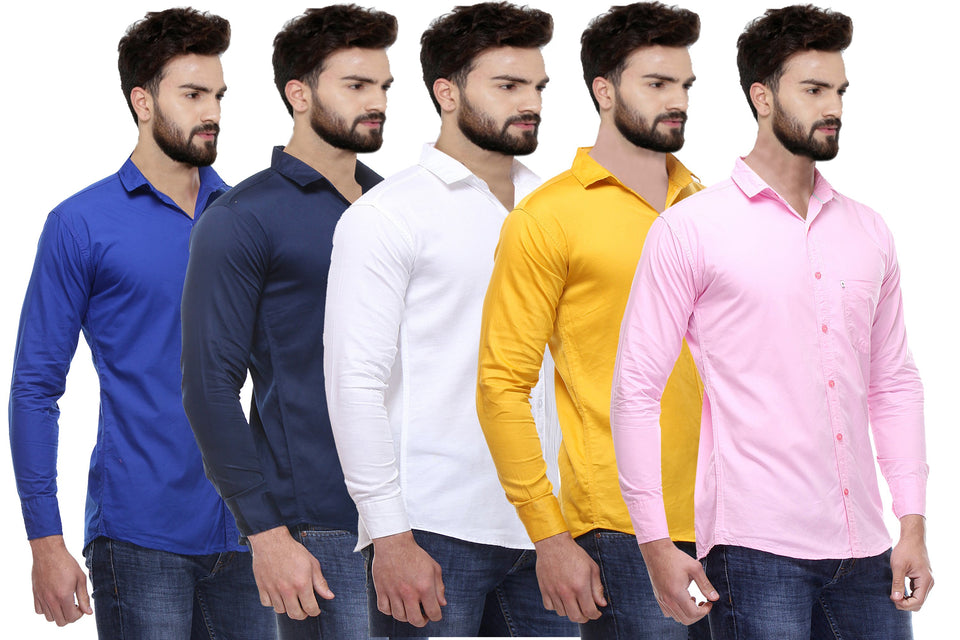 Balino London Regular Fit Casual Shirts For Men Combo Of 5