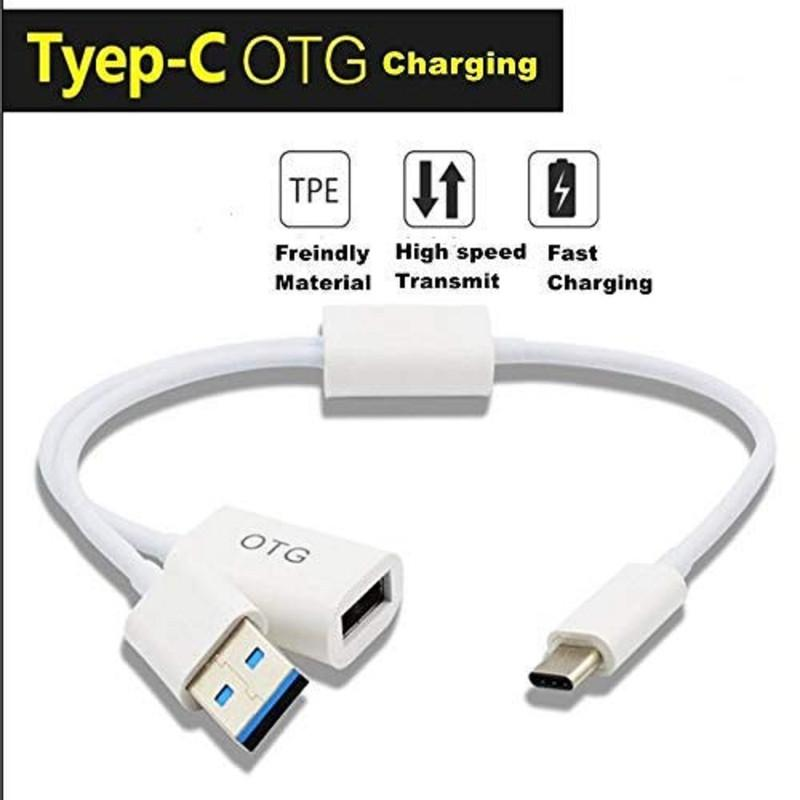Drumstone Type-C OTG with USB Charging Adapter for All Type c Mobile Phone(not Working OTG if use USB Charging Phone)