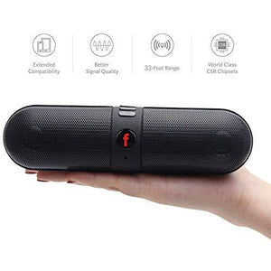 Drumstone Pill Shaped Bluetooth Stereo Speaker with FM/Pendrive Slot for All Smartphones