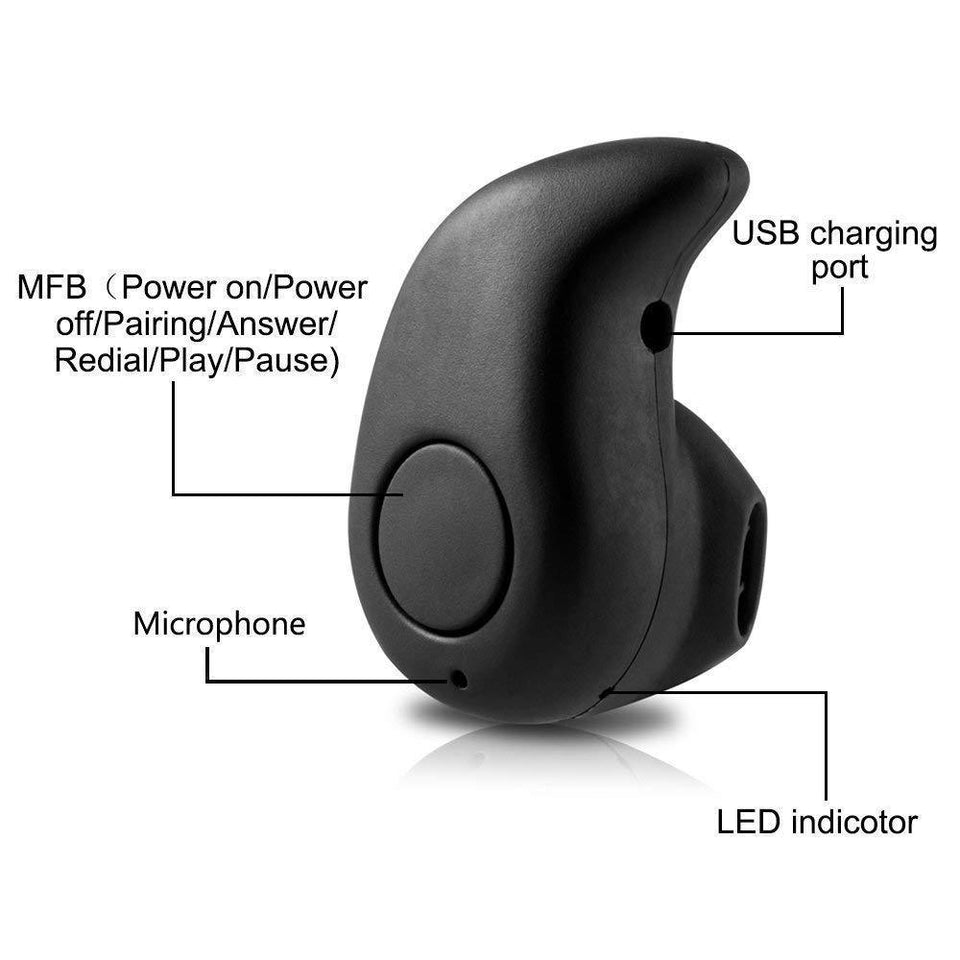 Drumstone S530 Mini in Ear Wireless Bluetooth Headset in Built Noise Cancellation with Smart Calling, Music for All Smartphones