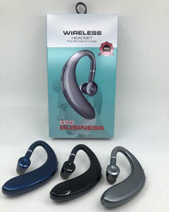 Drumstone S109 Single Wireless 18 Hours of Calling with 1 Hour Charge Bluetooth Headset in Blue with Mic Designed for All i Phones and Android Smartphone