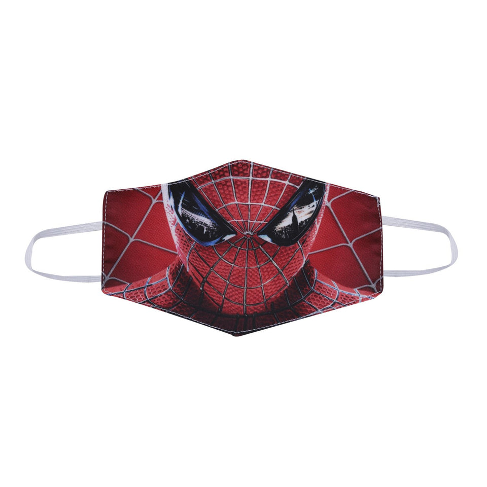 Spiderman Graphic Printed Reusable Pollution Protection Boys Face Covering Mask For Kids-Child