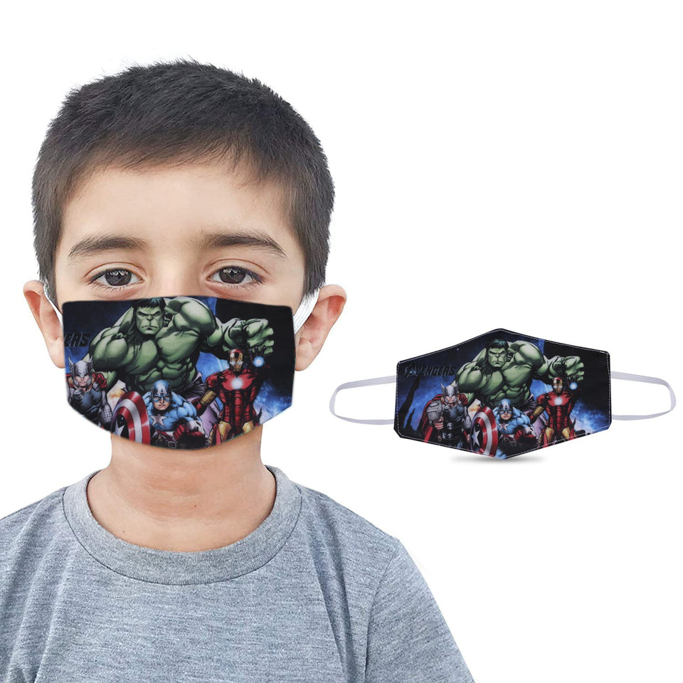 Cartoon Graphic Printed Reusable Pollution Protection Boys Face Covering Mask For Kids-Child