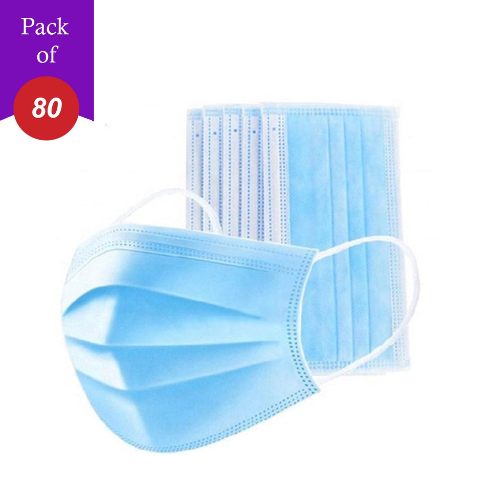 Disposable Protection Mask Face Mask surgical mask with tie (Pack Of 80)