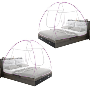 Pink Mosquito Net Combo Foldable Double Bed Net King Size Pack Of 2
