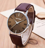 Mark Regal Round Dial Leather Strap Watches