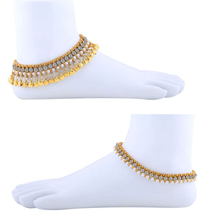 Silver Shine Designer Traditional  Anklet Wedding Jewellery  For Women Girls Set-2