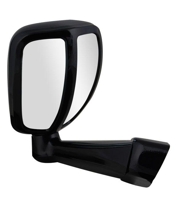Cartronics Front Fender SUV Wide Angle Mirror for All Cars (Black)