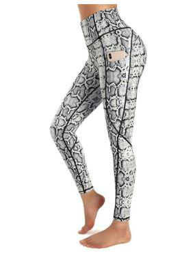 2020 Pocket Sports Leggings for Women Fashion Leopard Print Stretch Workout Leggings Pack of 5