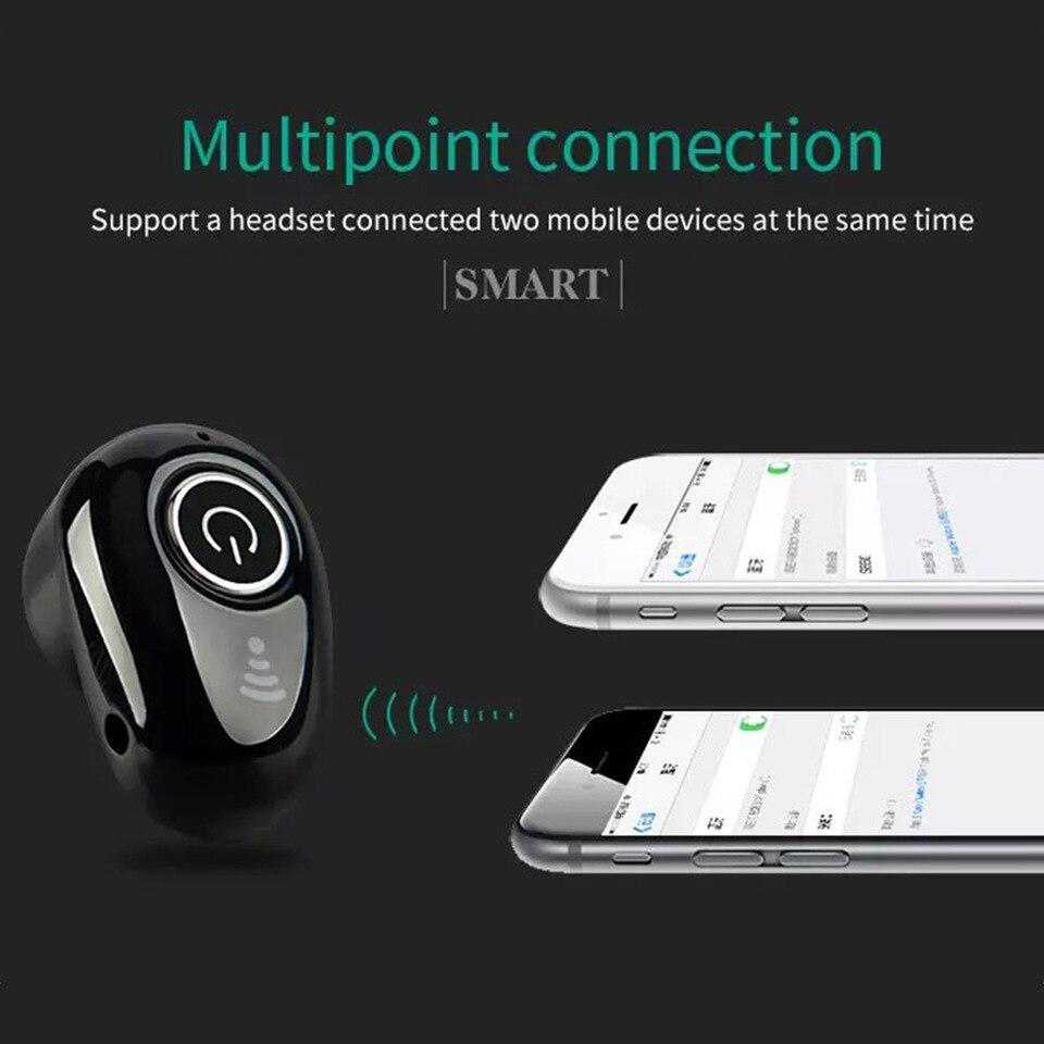 Drumstone S650 Mini Wireless Bluetooth Headset with Mic for Handsfree Calling, Noise Cancelling