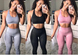 High Waist Seamless Leggings for Women Solid Push Up Leggings Sweatpants Sportswear Fitness Leggings pack of 3