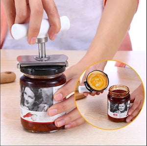 MANUAL STAINLESS STEEL EASY CAN JAR OPENER ADJUSTABLE 1-4 INCHES CAP LID OPENERS