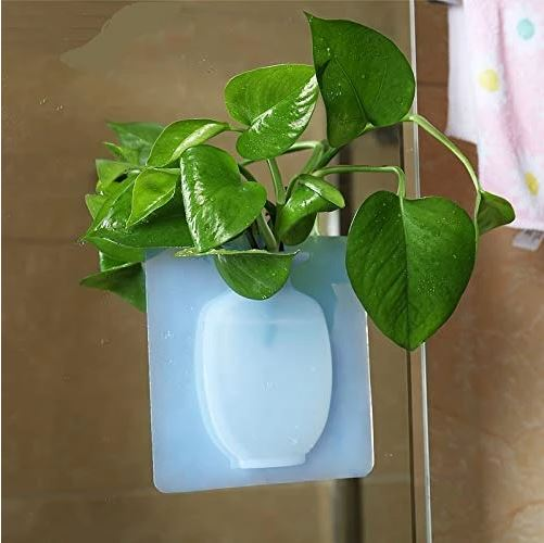 Silicone Vase Pot Sticky Decorative Hanging Flower Plant 3+1 Free