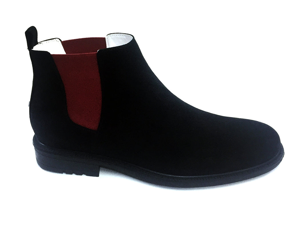 Black Red Dress Boot