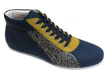Load image into Gallery viewer, Navy Grey Accent High Top