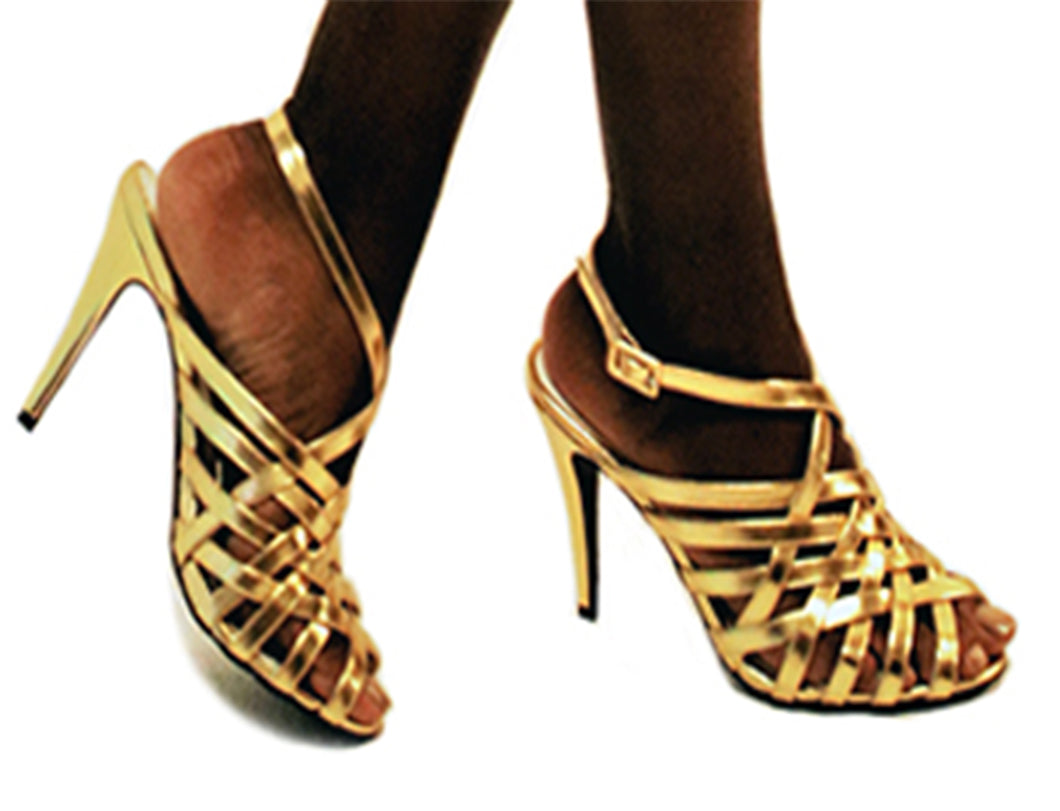 Stacy Gold Heel