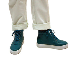 Teal Zipper High Top