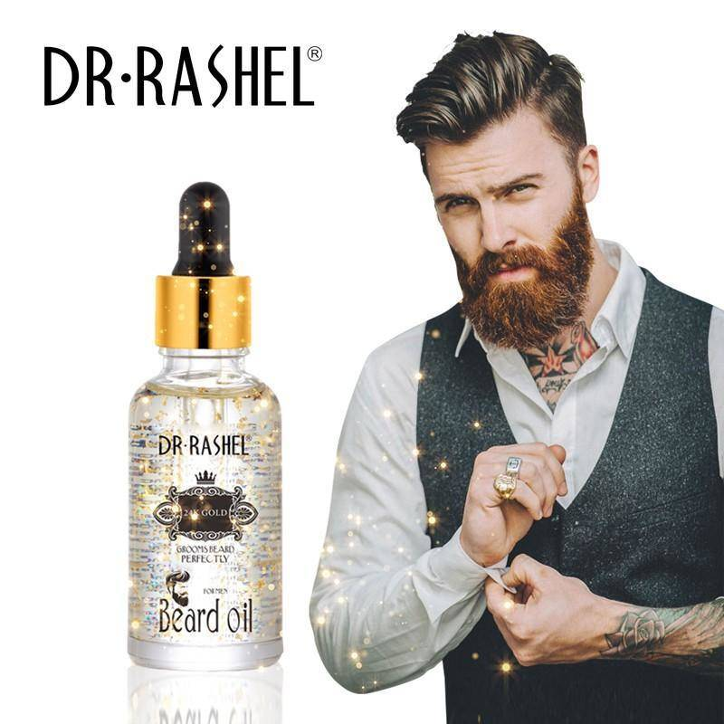 Dr.Rashel 24k Gold Beard Oil For Men Increase Shine and Stopping Beardruff