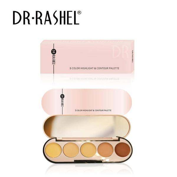 Dr Rashel 5 Color Highlight & Contour Palette