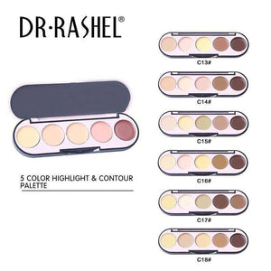 5 Color Highlight & Contour Palette