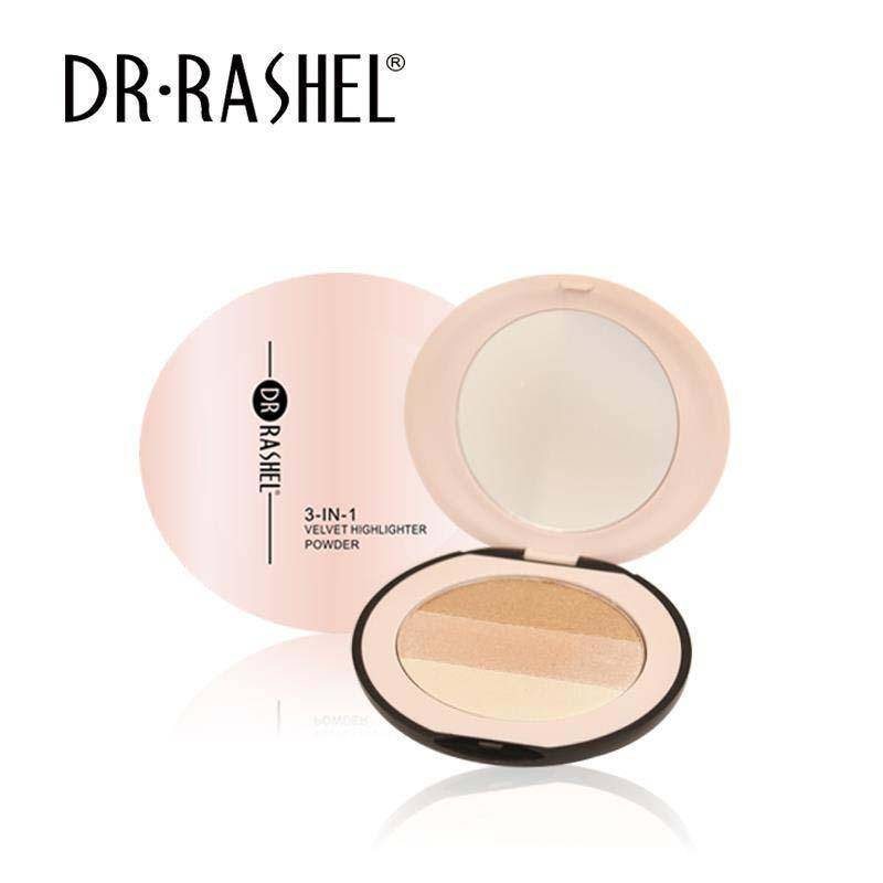 Dr.Rashel 3 In 1 Velvet Highlighter Powder