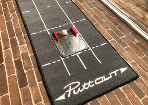 bovenaanzicht puttout putting mat