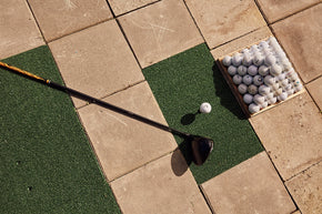Golf mat tegels