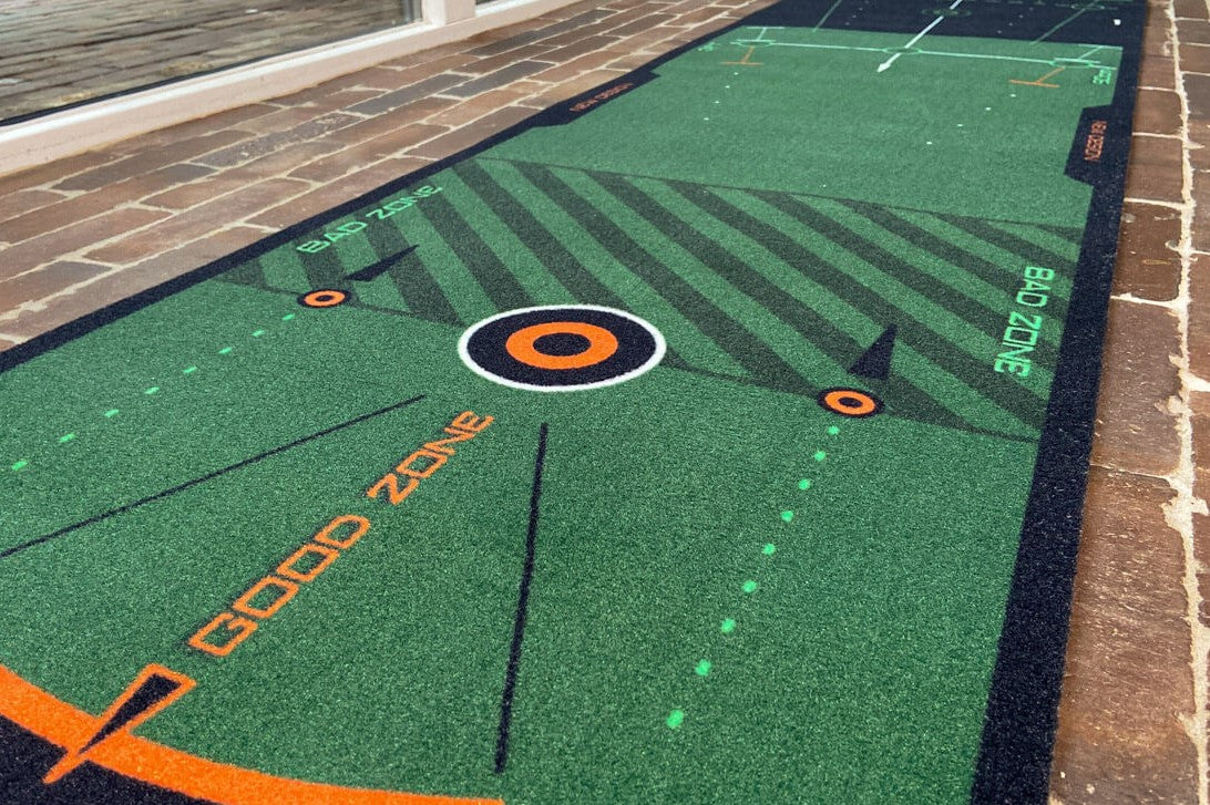 wellputt putting mat detail good zone