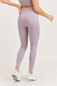 Ribbed Essential Mineral Wash Seamless Highwaist Leggings