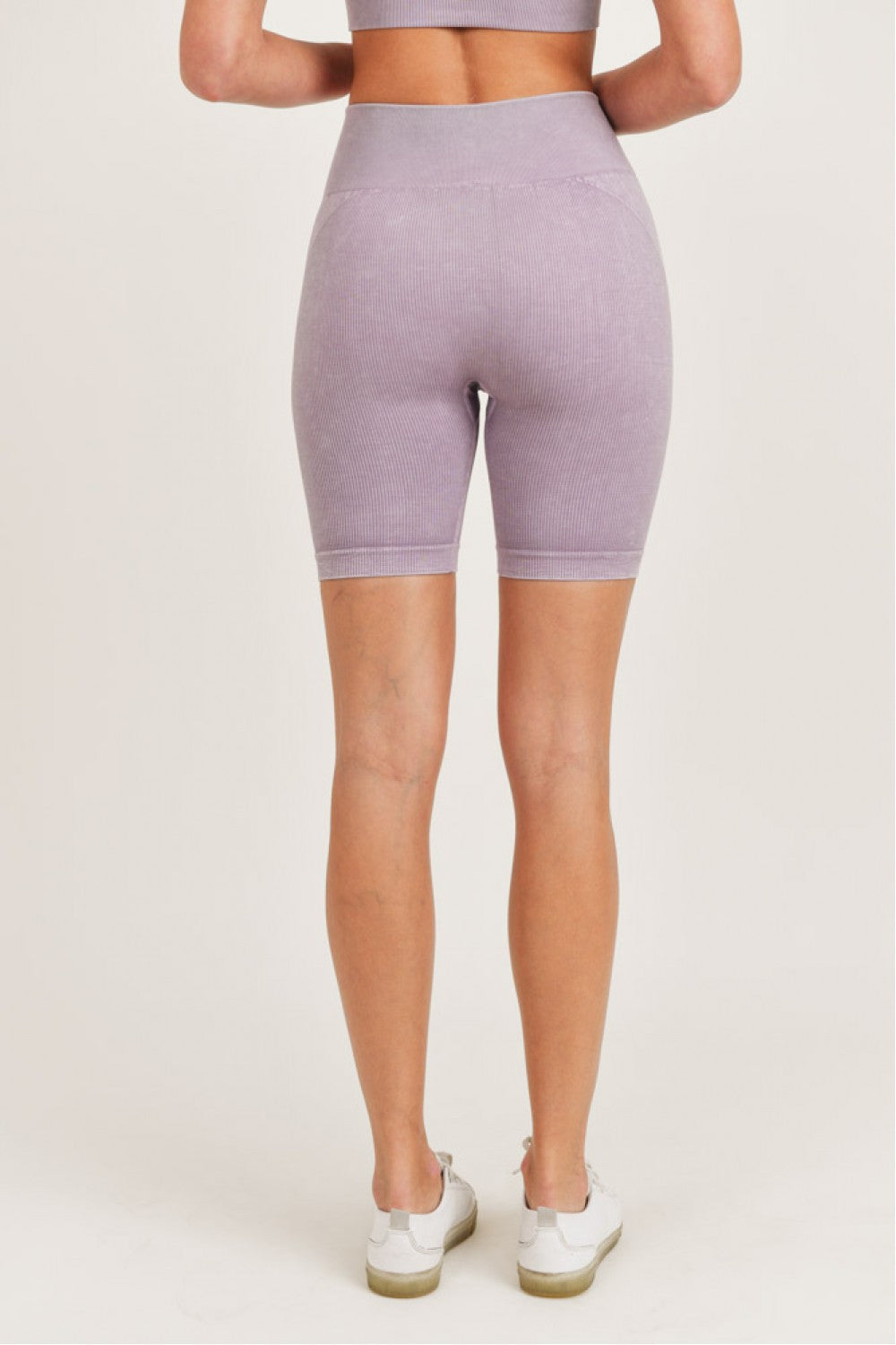 Mineral-Washed Seamless Biker Shorts