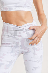 Pink Dawn Camo Highwaist Leggings