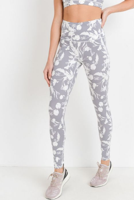 Highwaist Shadow Poppy Print Full Leggings