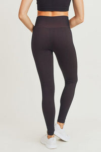 Ribbed Dry Brush Seamless Highwaist Leggings