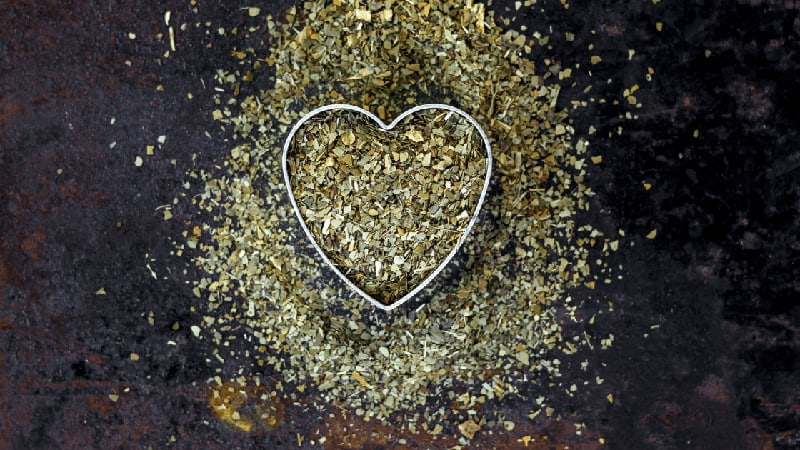 Yerba Mate in the shape of a heart