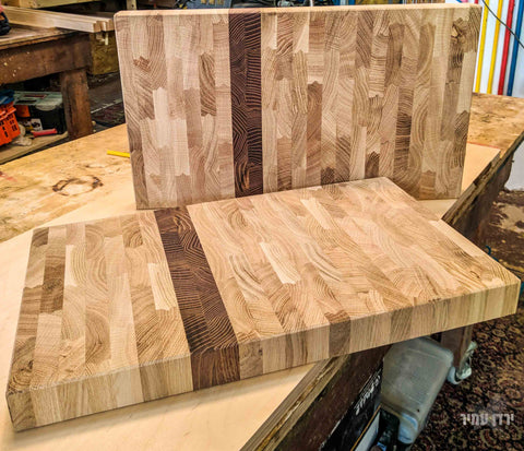 Oak and maple butcher block