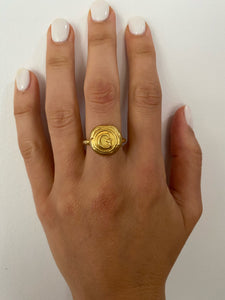24K Gold Plated Personalised ring