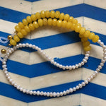 Load image into Gallery viewer, TWO-TONE YELLOW EYEWEAR CHAIN